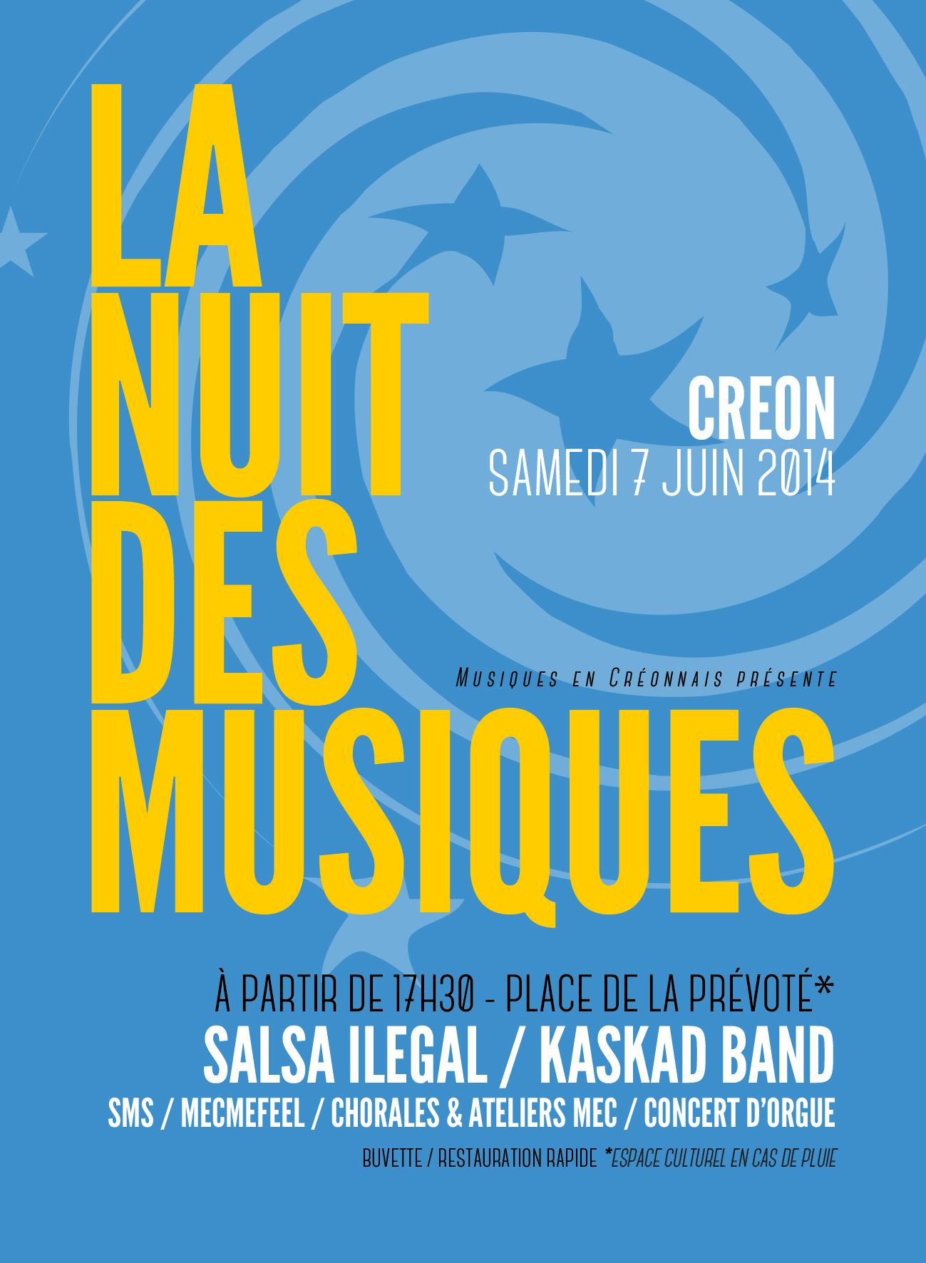 La nuit des musiques Créon 2014