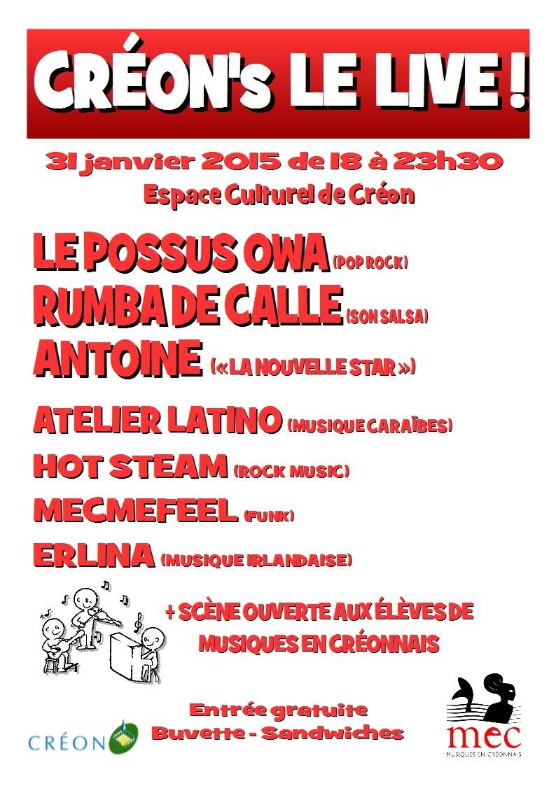 Créon le live 2015 Musiques en Créonnais MEC