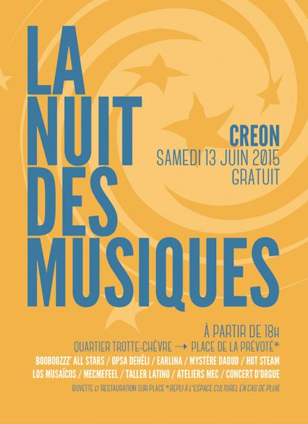 Nuit de musique 2015 Créon Musique en créonnais
